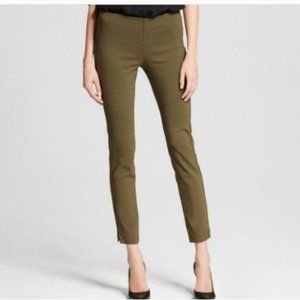 Who What Wear Army Green Skinny Ankle Pants